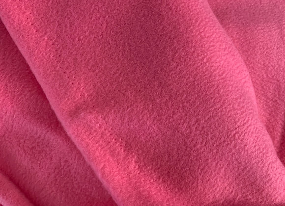 Pink Anti Pill Fleece Fabric Solids