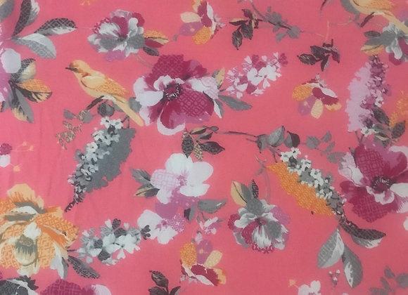 Garden pink Chiffon
