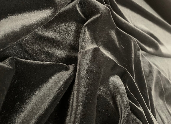 Stretch Black Velvet Fabric