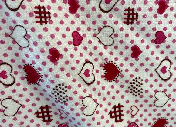 Heart Cotton Flannel