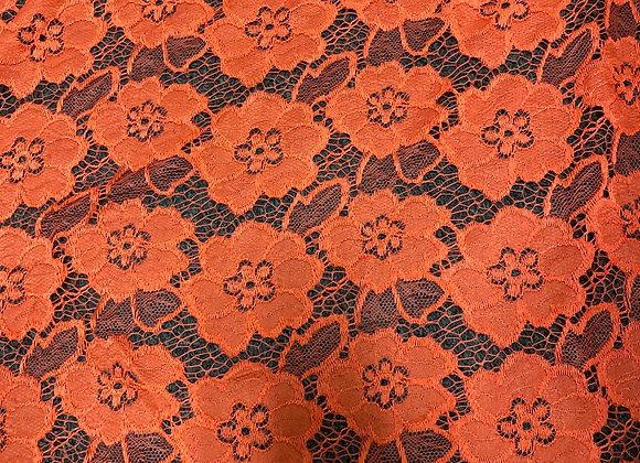 Bright orange lace