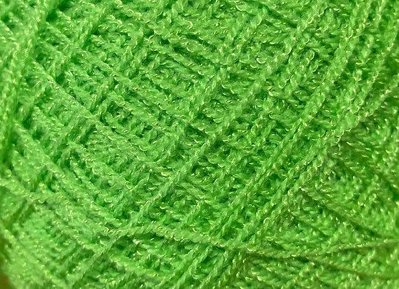 Neon green crystal yarn