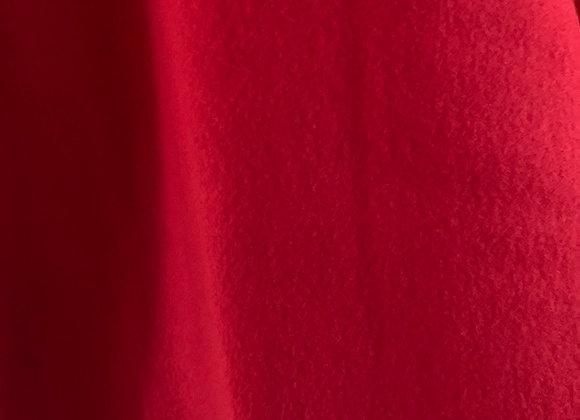 Red Anti Pill Fleece Fabric Solids