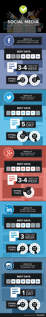 Social Media Posting Recommendations - Infographic