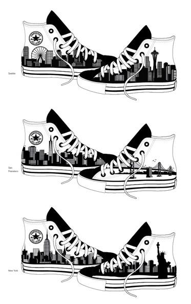 Converse All-Stars Shoe Art Concept