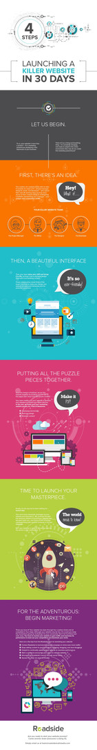 4 Steps to Launching a Killer Website in 30 Days - Infographic