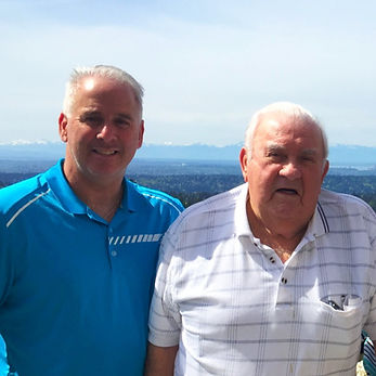 Father and son, Mike and Jack Moshcatel, owners of Earthworks Landscape Services, Inc.