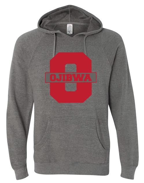 Ojibwa Special Blend Raglan Hooded Pullover Sweatshirt