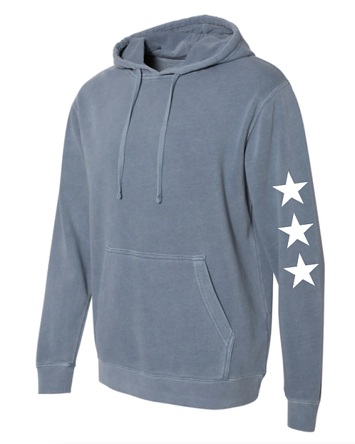 Slate Blue Star Hoodie