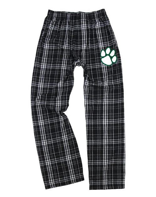 Flannel Pants-Black Plaid
