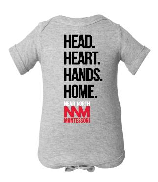 Head Heart Hands Home Onesie