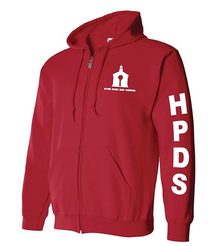 Hyde Park Red Full Zip Sweatshirt