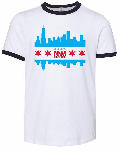 Chicago Skyline Ringer Tee