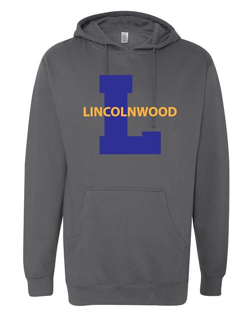 Charcoal Hooded Sweatshirt-Adult Only