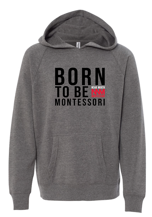 Grey Born To Be Hoodie
