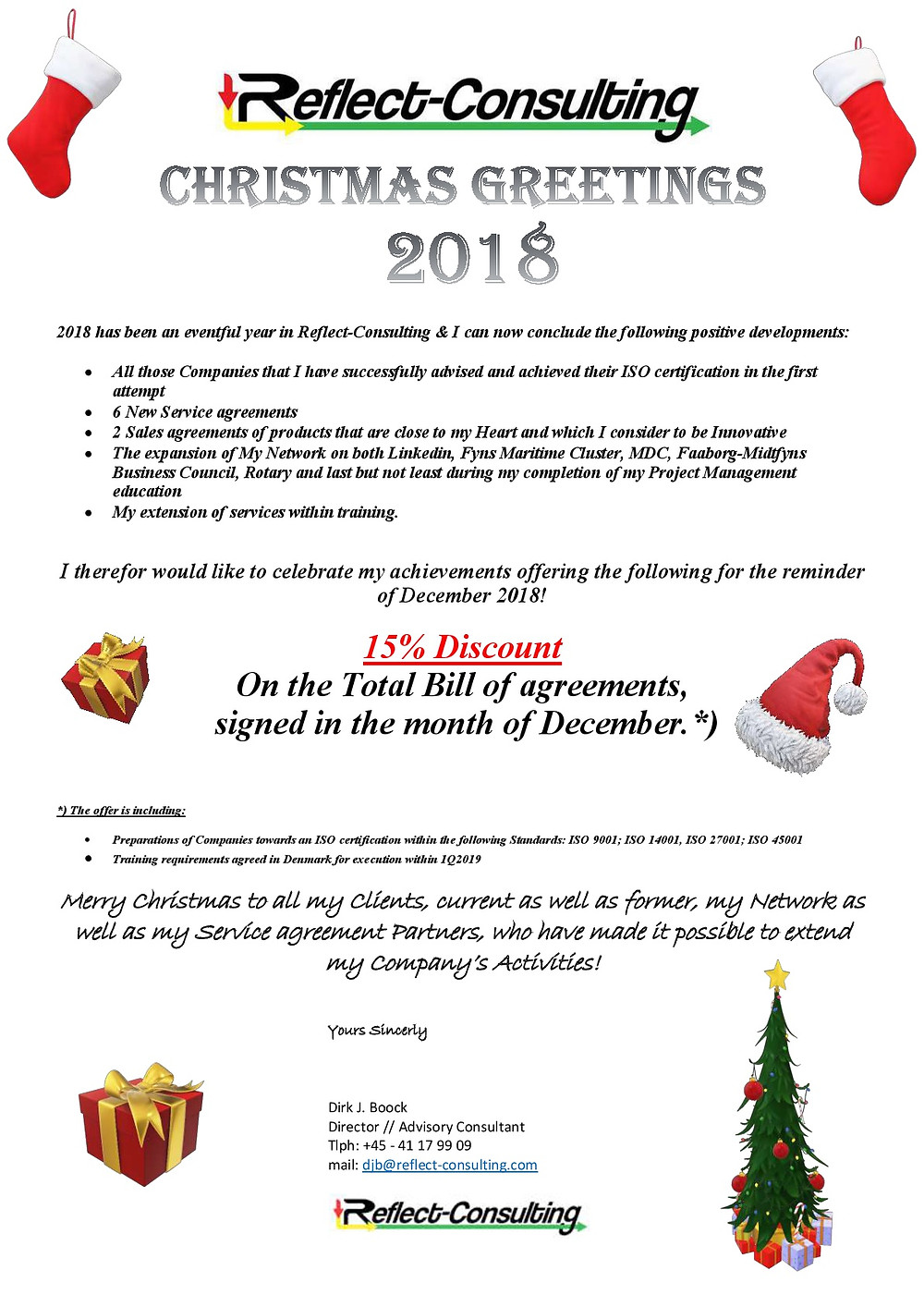 Christmas Greeting and a Happy New Offer