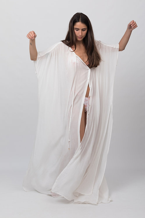 LONG CAMISOLE AFRODITA WHITE