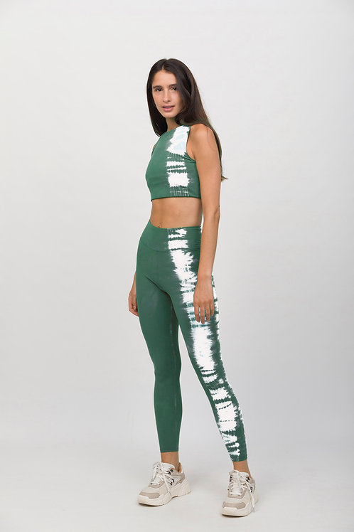 LEGGING GYM MENTA STRIPE