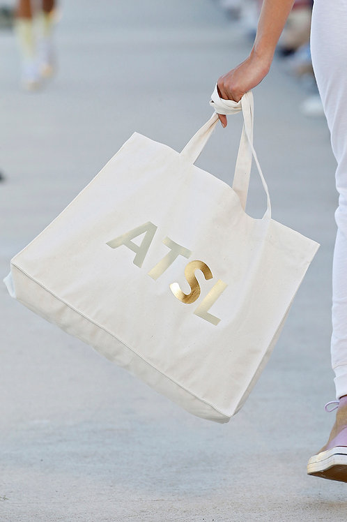 TOTE BAG Ecru-Gold