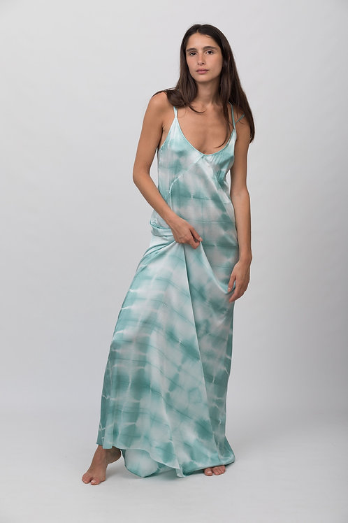LONG DRESS SQUARE OLIVE