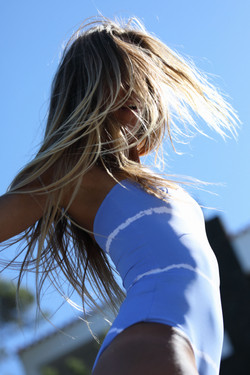 Swimsuit Corinne Blue Tye