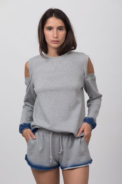 SHOULDER SWEATSHIRT FELPA DEGRADE TINTA