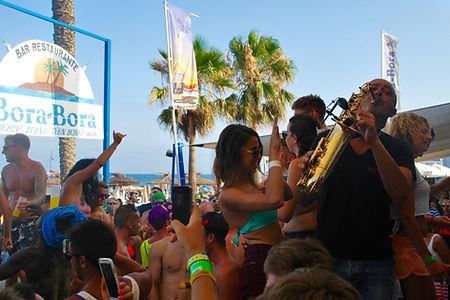 Saxophone Ibiza Bora Club