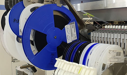 Reels of surface mount components