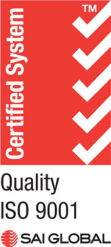ISO 9001 certificate showing compliance to a total quality management system