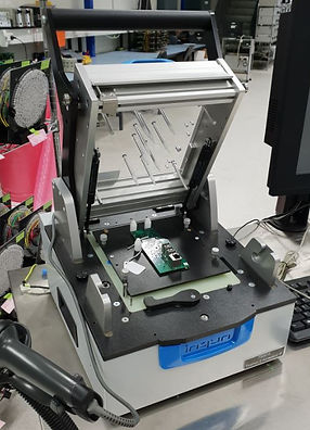 A test jig used in turnkey electronics product assembly