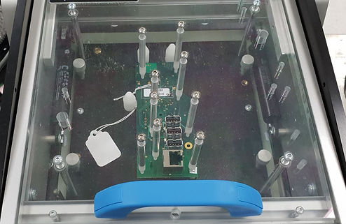 Electrical testing device for PCB assembly