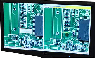 comparison screen used in first article inspectin for printed circuit board assembly