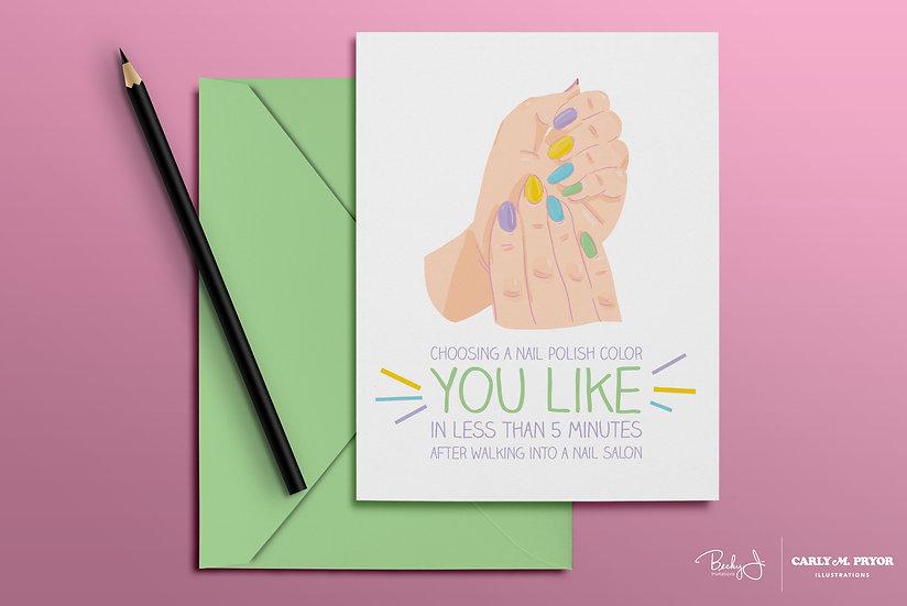 Choosing a Nail Polish Color | Greeting Card