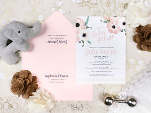 Wedding invitation suite silver glitter