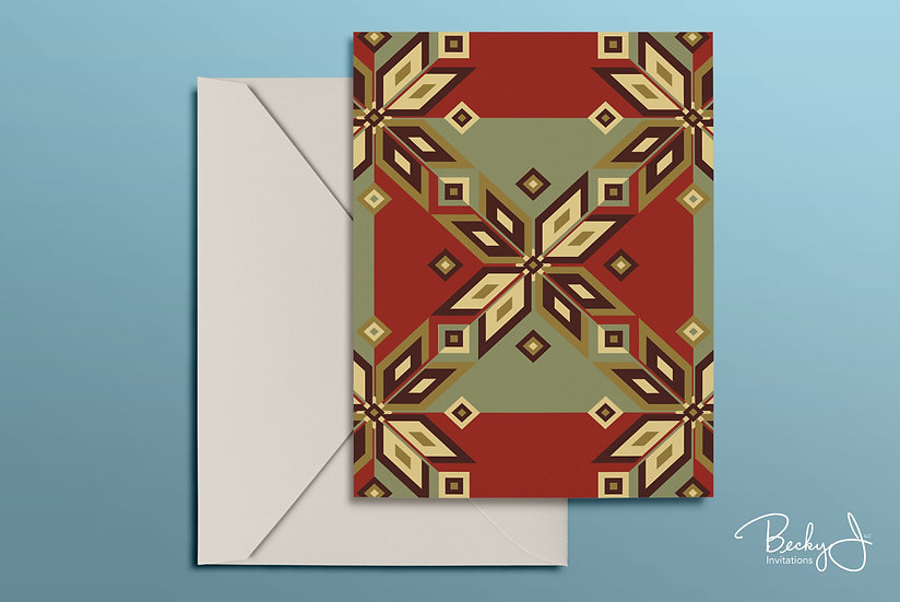 Snowflake Card | Red & Green