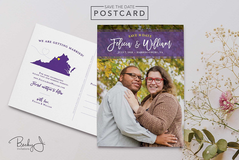 Save the Date Postcard | With Your State!