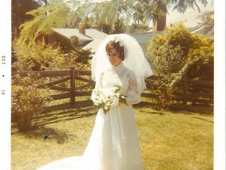 Mom's 1970 Wedding Dress