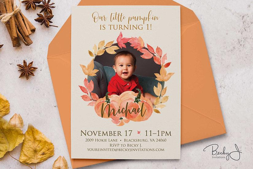 Birthday Invitation | Pumpkin