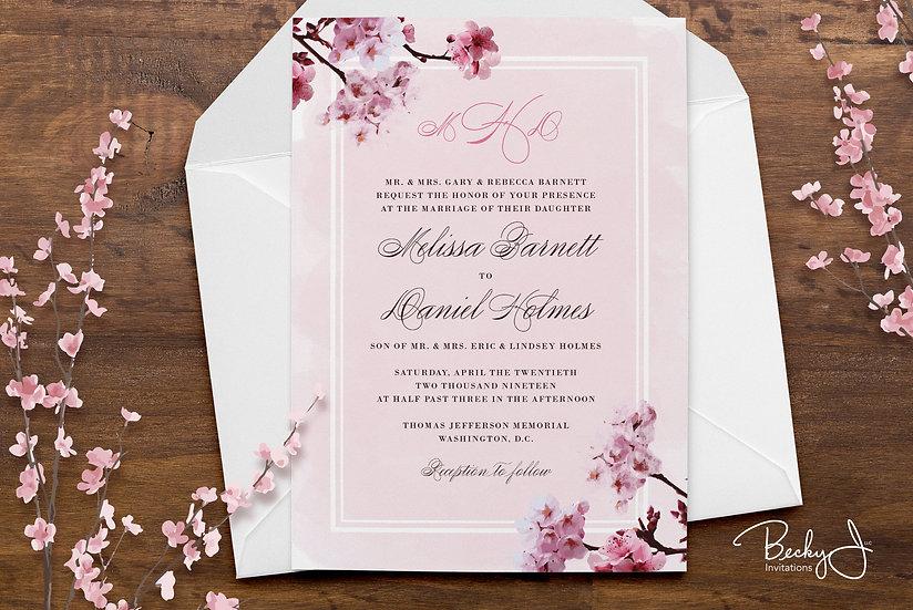 Wedding Invitation | Cherry Blossoms