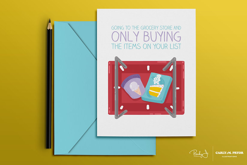 Only Buying the Items on Your List | Greeting Card