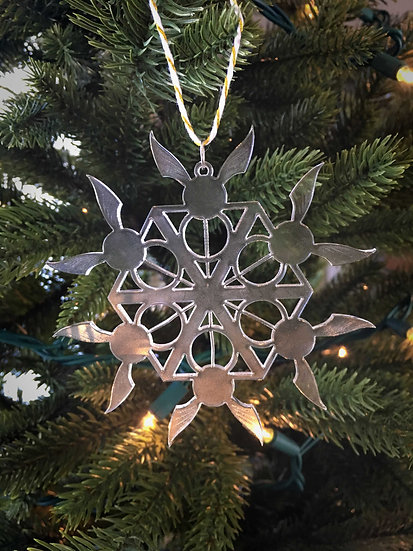 Golden Snitch Snowflake Ornament