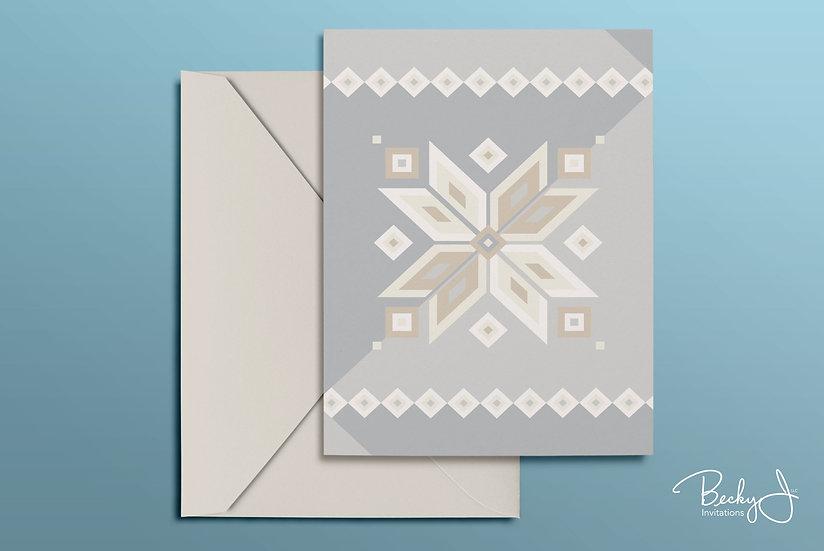 Snowflake Card | Elegant Whites