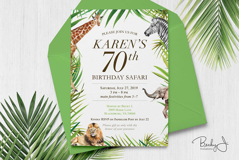 Birthday Invitation | Safari