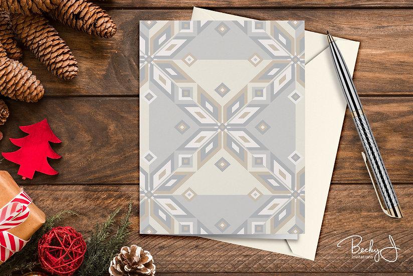 Snowflake Card | Elegant Whites Tiled