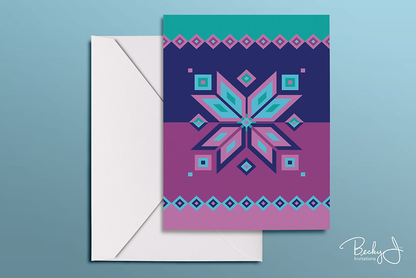 Snowflake Card | 80s Track Suit