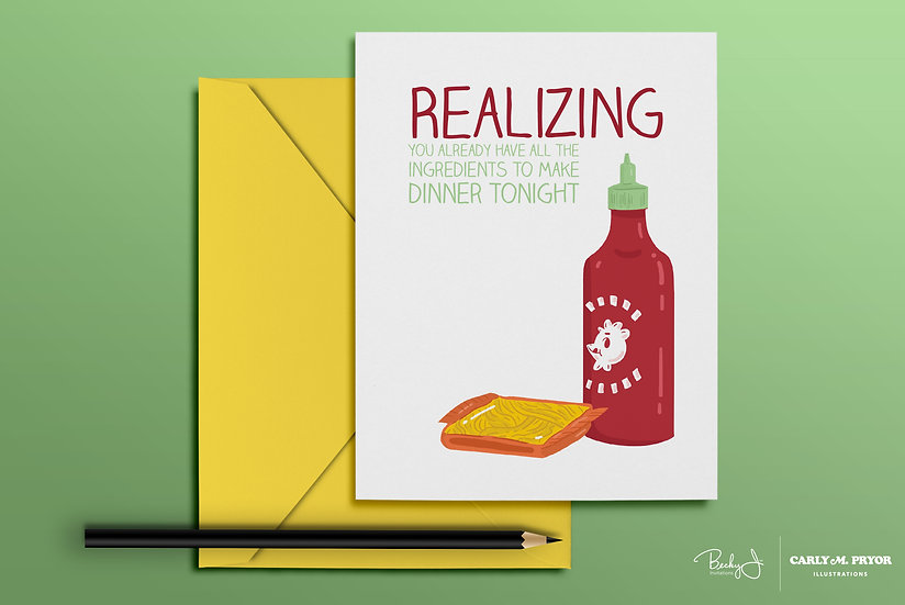 Realizing You Already Have All the Ingredients to Make Dinner | Greeting Card