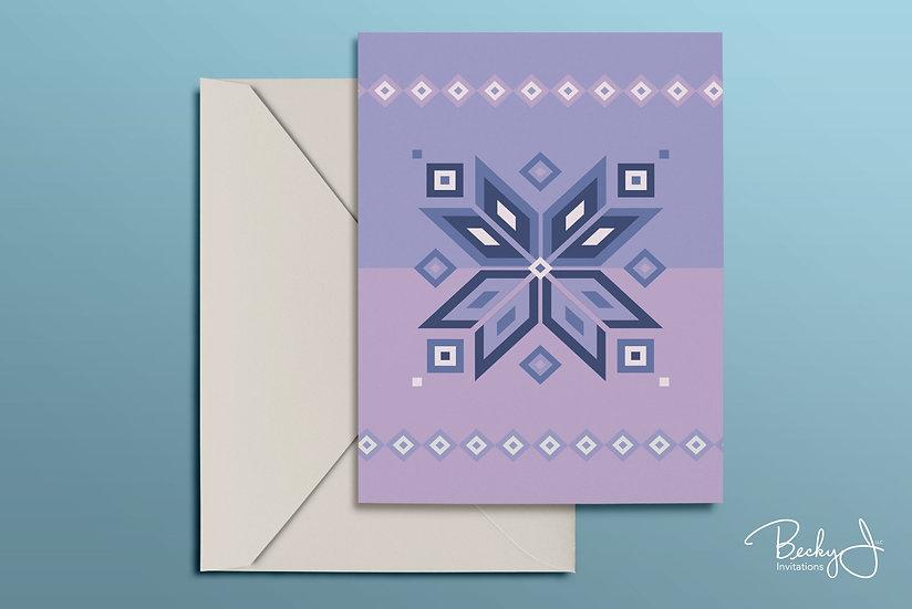 Snowflake Card | Lavender