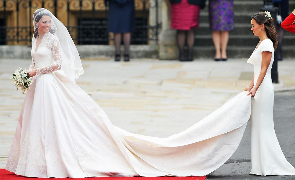 Kate Middleton Wedding Dress with Pippa