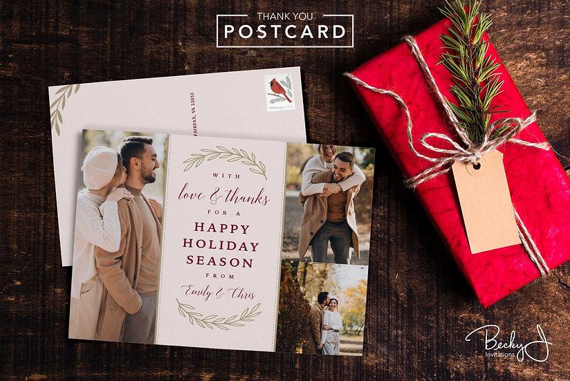 Holiday Postcard | 3 Photos