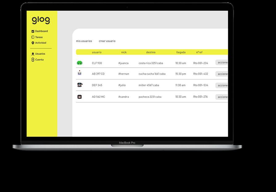 glog aplicación logística